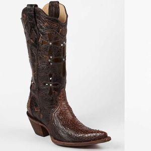 Corral Boots Genuine Musgo Python Cross